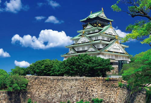 Beverly Jigsaw Puzzle 51-196 Japanese Scenery Osaka Castle (1000 Pieces)