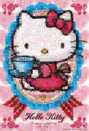 Beverly Jigsaw Puzzle 83-058 Mosaic Art Sanrio Hello Kitty Wonderful(300 Pieces)