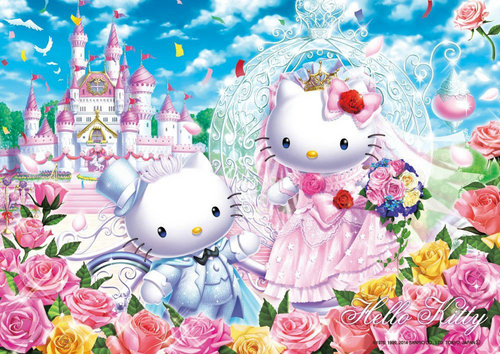 Beverly Jigsaw Puzzle 88-002 Sanrio Hello Kitty Castle Wedding (88 L-Pieces)
