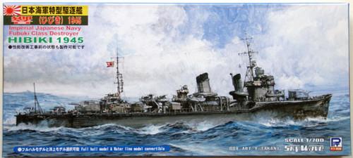 Pit-Road Skywave W-104 IJN Destroyer HIBIKI 1/700 Scale Kit