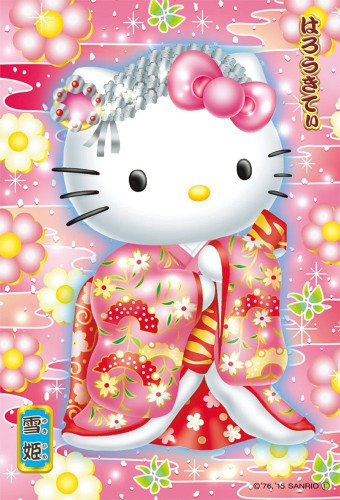 Beverly Jigsaw Puzzle M108-182 Sanrio Hello Kitty Kabuki (108 S-Pieces)