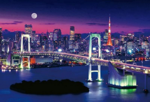 Beverly Jigsaw Puzzle M71-853 Tokyo Night View Rainbow Bridge (1000 S-Pieces)