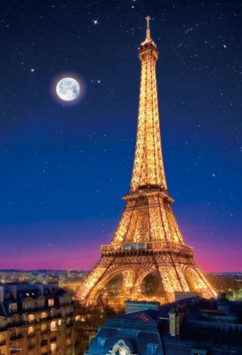 Beverly Jigsaw Puzzle M71-854 Paris Night View Eiffel Tower (1000 S-Pieces)