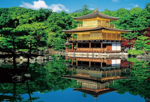 Beverly Jigsaw Puzzle M81-835 Golden Temple Kinkaku-ji (1000 S-Pieces)