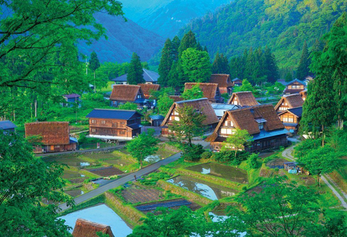Beverly Jigsaw Puzzle M81-857 Village of Gokayama Japan (1000 S-Pieces)