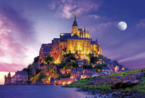 Beverly Jigsaw Puzzle S72-526 Mont Saint-Michel Twilight (2000 S-Pieces)