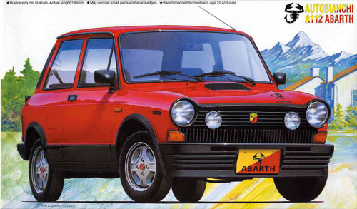 Fujimi RS-23 Autobianchi A112 1/24 Scale Kit 124735