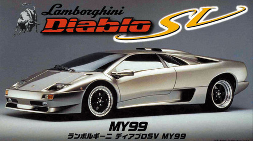 Fujimi RS-27 Lamborghini Diablo SV MY99 1/24 Scale Kit 121901