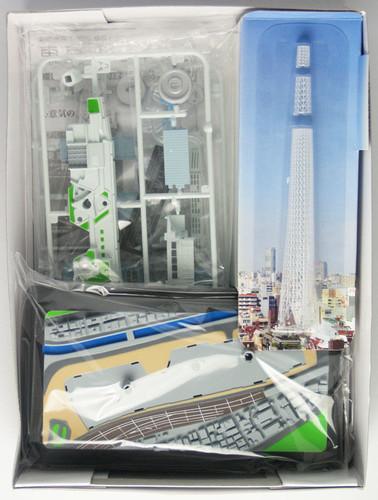 Doyusha 004685 Tokyo Sky Tree w/ LED light IKI 1/3000 Scale Plastic Model Kit