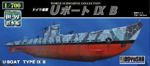 Doyusha 301067 German U-Boat Type IX B Submarine 1/700 Scale Kit