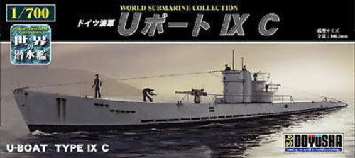 Doyusha 301074 German U-Boat Type IX C Submarine 1/700 Scale Kit