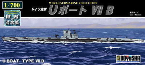 Doyusha 301081 German U-Boat Type VII B Submarine 1/700 Scale Kit