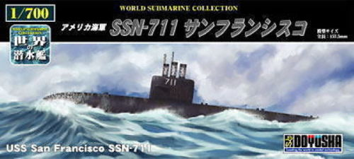 Doyusha 301159 USS San Francisco SSN-711 Submarine 1/700 Scale Kit