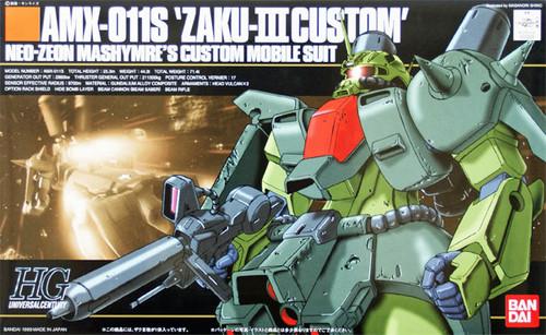 Bandai HGUC 003 Gundam AMX-011S ZAKU III MASHYMRE CUSTOM 1/144 Scale Kit