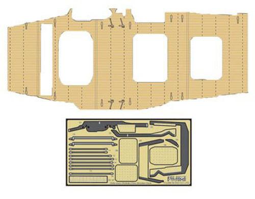 Fujimi TK 114637 Wooden Deck Parts for Chibi-maru Kantai Fleet Shokaku/Zuikaku