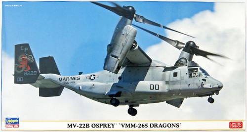 Hasegawa 02212 MV-22B Osprey VMM-265 Dragons 1/72 Scale Kit