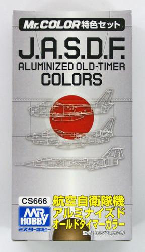GSI Creos Mr.Hobby CS666 Mr. J.A.S.D.F Aluminized Old-Timer Color Set