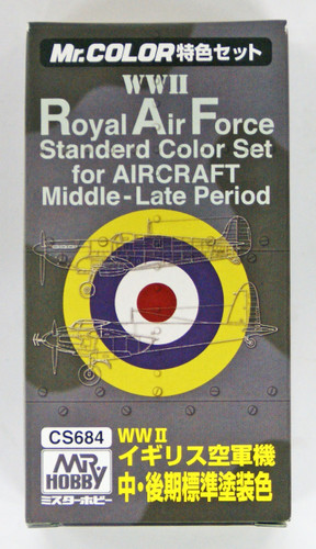 GSI Creos Mr.Hobby CS684 Mr. WWII Royal Air Force Color Set for Aircraft