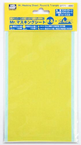 GSI Creos Mr.Hobby GT71 Mr. Masking Sheet Round & Triangle