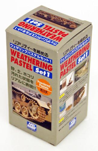 GSI Creos Mr.Hobby PP101 Mr. Weathering Pastel Set No. 1 (3 Pastels)