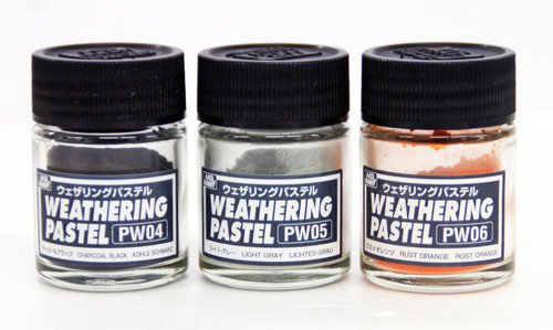 GSI Creos Mr.Hobby PP102 Mr. Weathering Pastel Set No. 2 (3 Pastels)