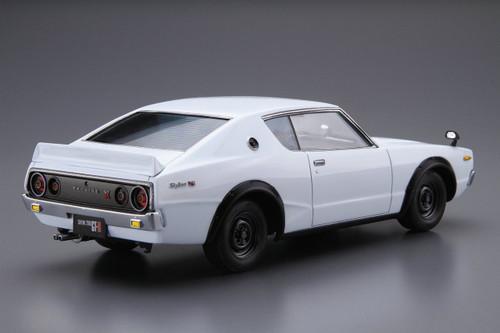 Aoshima 52129 The Model Car 15 Nissan KPGC110 Skyline HT2000 GT-R '73 1/24 Scale Kit
