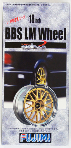 Fujimi TW04 BBS LM Wheel & Tire Set 18 inch 1/24 Scale Kit