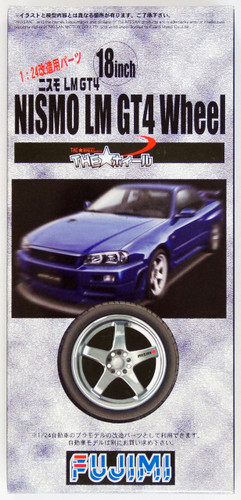 Fujimi TW08 NISMO LM GT-4 Wheel & Tire Set 18 inch 1/24 Scale Kit
