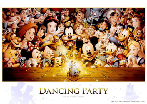 Tenyo Japan Jigsaw Puzzle D-300-284 Disney Dancing Party (300 Pieces)