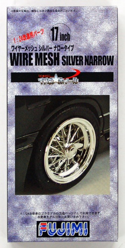 Fujimi TW13 Wire Mesh Silver Narrow Wheel 17 inch 1/24 Scale Kit