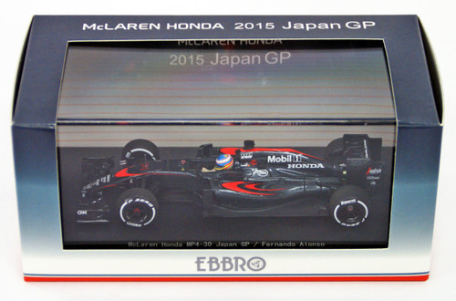 Ebbro 45328 McLaren Honda MP4-30 GP No.14 Fernando Alonso 1/43 Scale