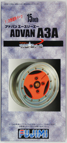 Fujimi TW18 ADVAN A3A Wheel & Tire Set 15 inch 1/24 Scale Kit