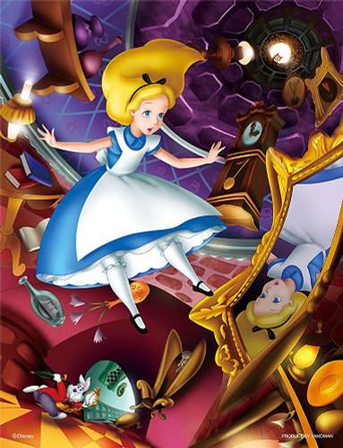 Yanoman Jigsaw Puzzle 42-31 Disney Alice in Wonderland (300 Small Pieces)