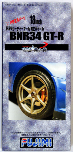Fujimi TW21 BNR34 GT-R Wheel & Tire Set 18 inch 1/24 Scale Kit