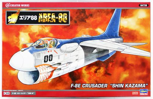 Hasegawa 64739 Area-88 F-8E Crusader Shin Kazama 1/48 Scale Kit