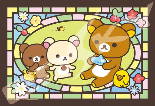 Ensky Art Crystal Jigsaw Puzzle 126-AC60 Rilakkuma New Friend No. 4 (126 Pieces)
