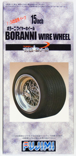 Fujimi TW24 Boranni Wire Wheel & Tire Set 15 inch 1/24 Scale Kit