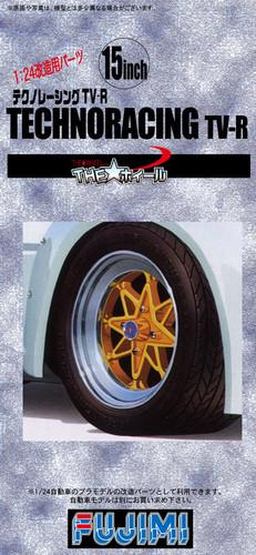 Fujimi TW26 Technoracing TV-R Wheel & Tire Set 15 inch 1/24 Scale Kit