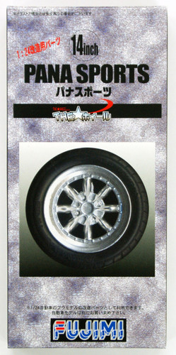 Fujimi TW43 Pana Sports Wheel & Tire Set 14 inch 1/24 Scale Kit