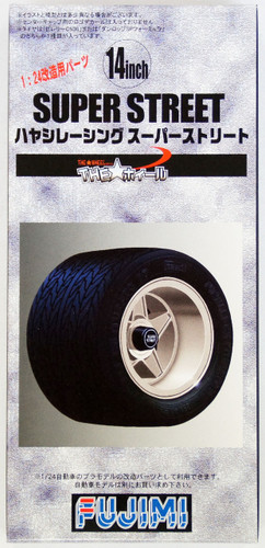 Fujimi TW48 Super Street Wheel & Tire Set 14 inch 1/24 Scale Kit