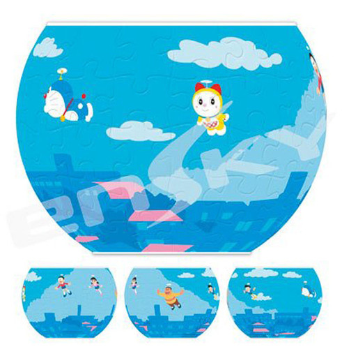 Ensky 3D Jigsaw Puzzle AT8-05 Japanese Manga Doraemon (84 Pieces)