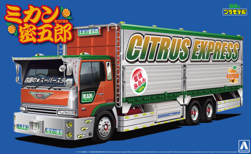 Aoshima 52075 Japanese Decoration Truck Mikan Mitsugoro 1/32 Scale Kit