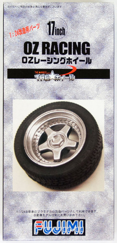 Fujimi TW55 OZ Racing Wheel & Tire Set 17 inch 1/24 Scale Kit