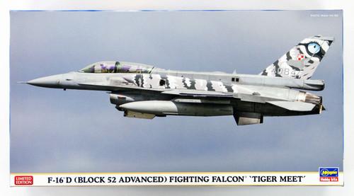 Hasegawa 02214 F-16D (Block 52 Advanced) Fighting Falcon Tiger Meet 1/72 Scale Kit 2 set
