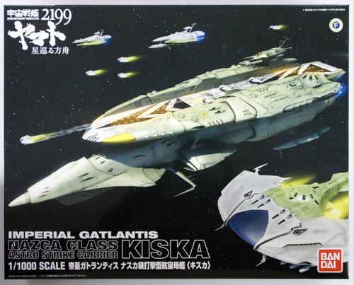 Bandai 943774 Yamato 2199 Imperial Gatlantis Nazca Class Astro Strike Carrier KISKA 1/1000 Scale Kit