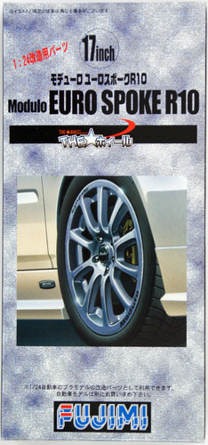 Fujimi TW61 Modulo Euro Spoke R10 Wheel & Tire Set 17 inch 1/24 Scale Kit