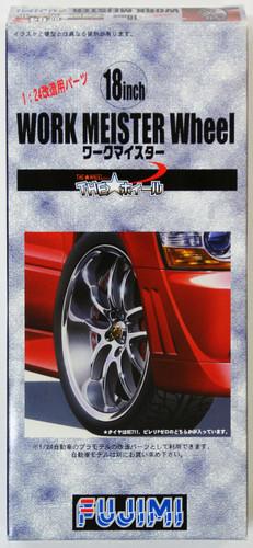 Fujimi TW64 Work Meister Wheel & Tire Set 18 inch 1/24 Scale Kit