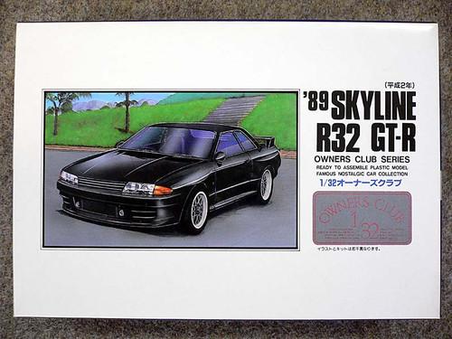 Arii Owners Club 1/32 35 1989 SKYLINE R32 GT-R 1/32 Scale Kit (Microace)