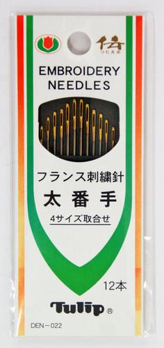 Tulip DEN-022 Embroidery Needles 4 Size Set (12 pcs)