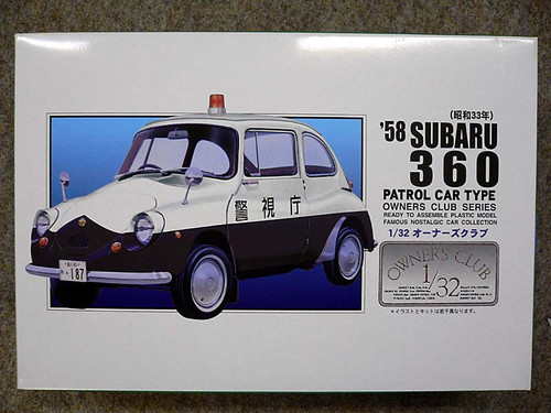Arii Owners Club 1/32 63 1958 Subaru 360 Patrol 1/32 Scale Kit (Microace)